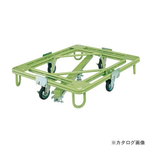 【直送品】サカエ SAKAE 自在移動回転台車 中重量型 センターベース付 RC-1KG