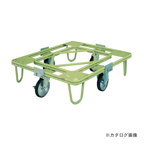 【直送品】サカエ SAKAE 自在移動回転台車 200φゴム車(取手なし) RE-1G