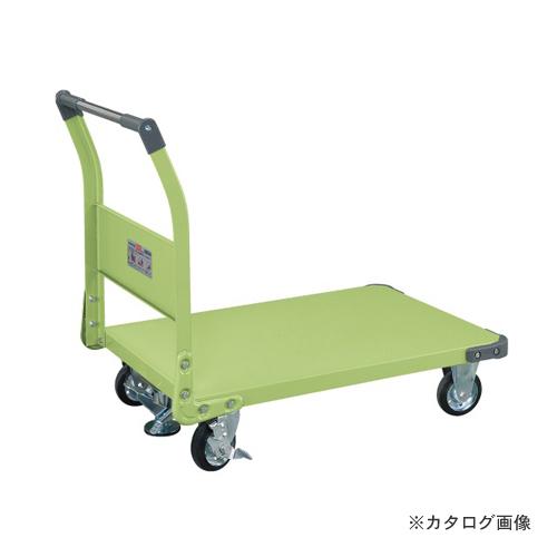 【直送品】サカエ SAKAE 特製四輪車 フロアストッパー付 TAN-55F