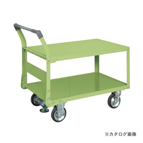 【直送品】サカエ SAKAE 特製四輪車 フロアストッパー付 TAW-55F