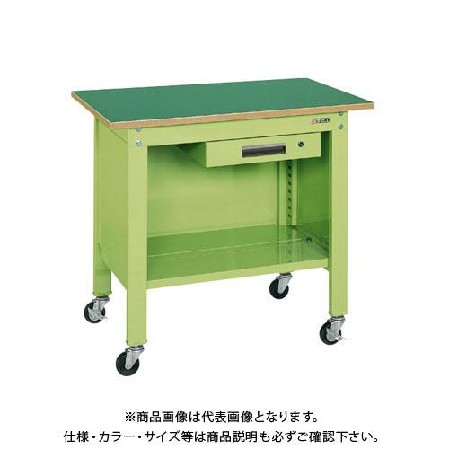 【直送品】サカエ 一人用作業台・軽量移動式 CPB-126A