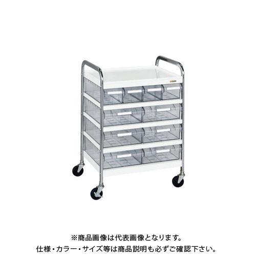 【直送品】サカエ CSワゴン透明ボックス付 CSA-46T