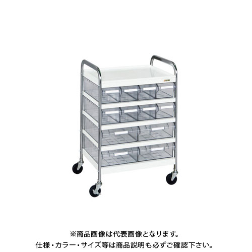 【直送品】サカエ CSワゴン透明ボックス付 CSA-84T
