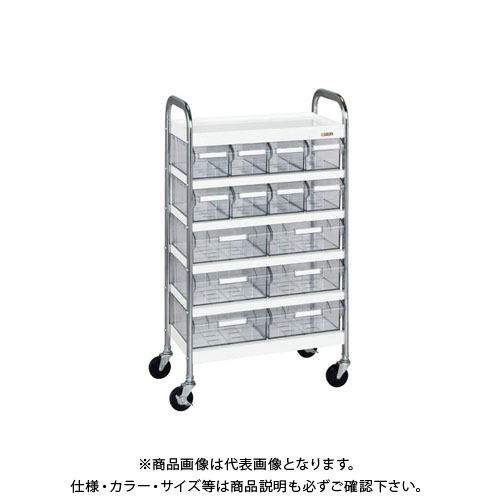 【直送品】サカエ CSワゴン透明ボックス付 CSB-86T
