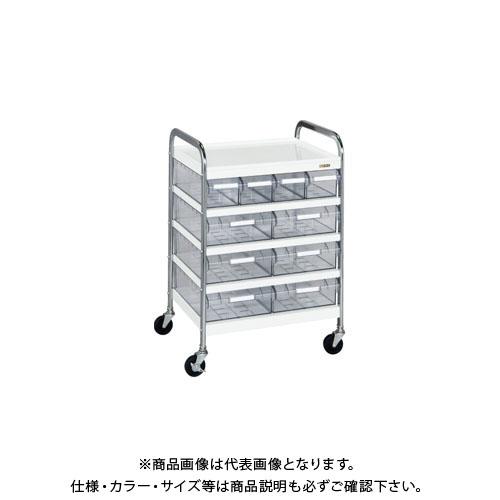 【直送品】サカエ CSワゴン透明ボックス付 CSC-46T