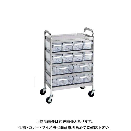 【直送品】サカエ CSワゴン透明ボックス付 CSC-84RSU