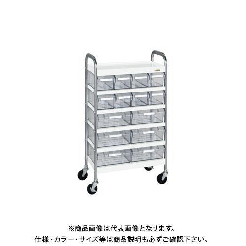 【直送品】サカエ CSワゴン透明ボックス付 CSD-86T