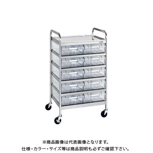 高価値 【直送品】サカエ CSワゴン透明ボックス付 CSE-10RSU:KanamonoYaSan CSE-10RSU KYS, オトナかわいいピアス:c6532da5 --- fricanospizzaalpine.com