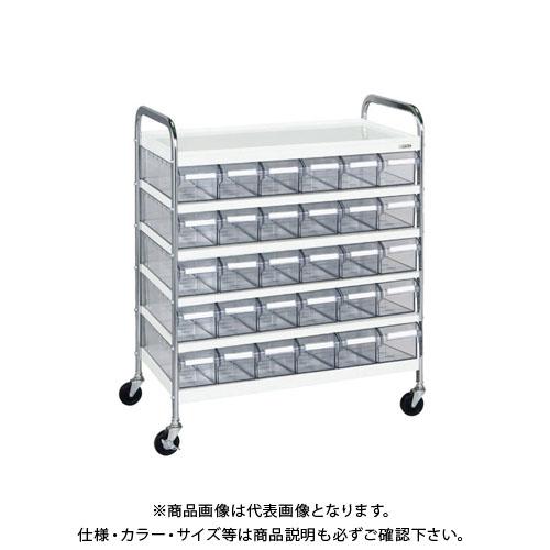 【直送品】サカエ CSワゴン透明ボックス付 CSG-30T