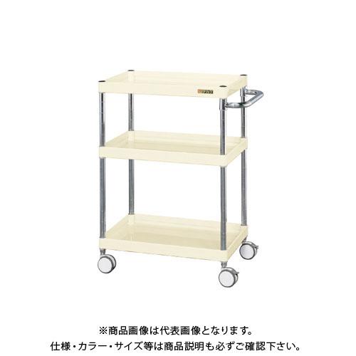 【直送品】サカエ ニューCSパールワゴン(双輪キャスター仕様) CSPA-608RDI