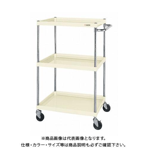 【直送品】サカエ ニューCSパールワゴン(ゴム車) CSPA-75123I