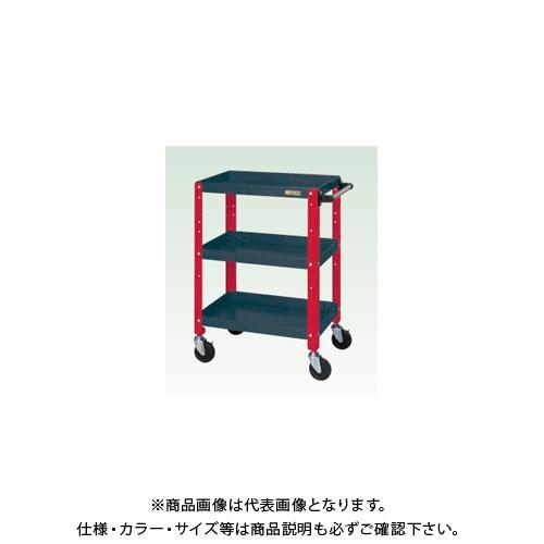 【直送品】サカエ ニューCSスペシャルワゴン(ツートン・ゴム車) CSSA-608DR