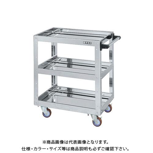 【直送品】サカエ ステンレスニューCSスーパーワゴン CSWA-607SU4