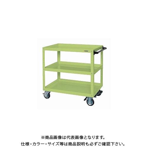 【直送品】サカエ ニューCSスーパーワゴン フットブレーキ付 CSWA-907BR