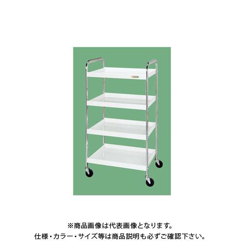 【直送品】サカエ ニューCSワゴンヨコ型(パールホワイト) CSYA-5411W