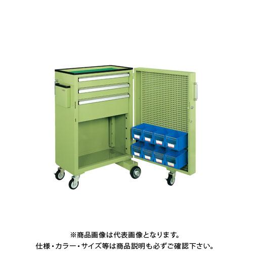 【直送品】サカエ キャビネットワゴンスイングドア付 CW-SD5N