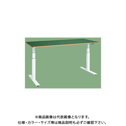 【直送品】サカエ 電動昇降作業台(サカエリューム天板) DLK-126FW