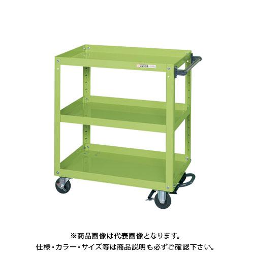 【直送品】サカエ スーパーワゴン フットブレーキ付 EKR-200BR