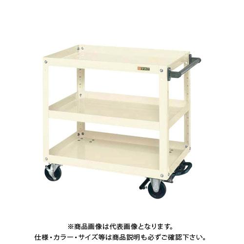 【直送品】サカエ スーパーワゴン フットブレーキ付 EKR-200BRI