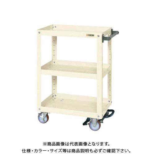 【直送品】サカエ スーパーワゴン フットブレーキ付 EMR-157BRNUI