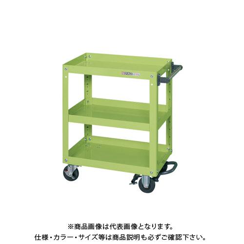 【直送品】サカエ スーパーワゴン フットブレーキ付 EMR-157BR