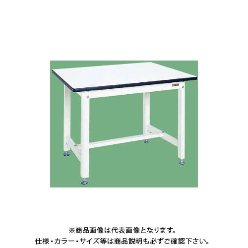 【直送品】サカエ 中量作業台(扇形支柱・パールホワイト) KF-38W