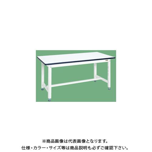 【直送品】サカエ 中量作業台・扇形支柱(パールホワイト) KF-59W