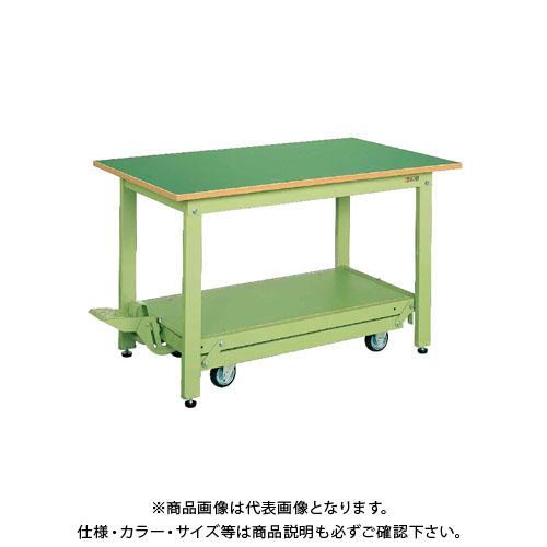 【直送品】サカエ 軽量作業台KKタイプ・ペダル昇降移動式 KK-157F