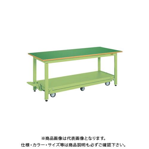 【直送品】サカエ 軽量作業台KKタイプ・ペダル昇降移動式 KK-187Q6F