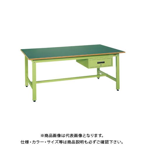 【直送品】サカエ 軽量作業台KKタイプ深型キャビネット付 KK-1575F1