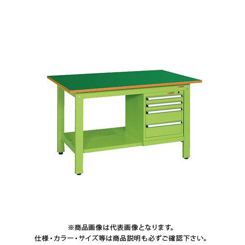 【直送品】サカエ 軽量作業台KKタイプ スモールキャビネット付 KK-59FSL4