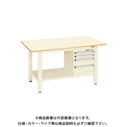 【直送品】サカエ 軽量作業台KKタイプ スモールキャビネット付 KK-69PSL4I