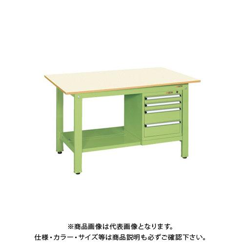 【直送品】サカエ 軽量作業台KKタイプ スモールキャビネット付 KK-69PSL4IG