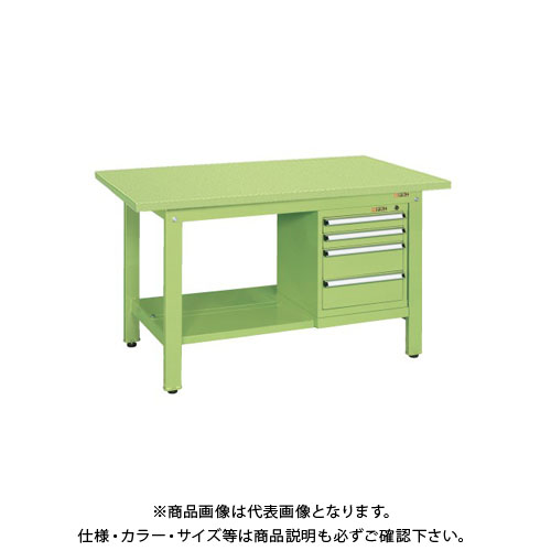 【直送品】サカエ 軽量作業台KKタイプ スモールキャビネット付 KK-69SSL4