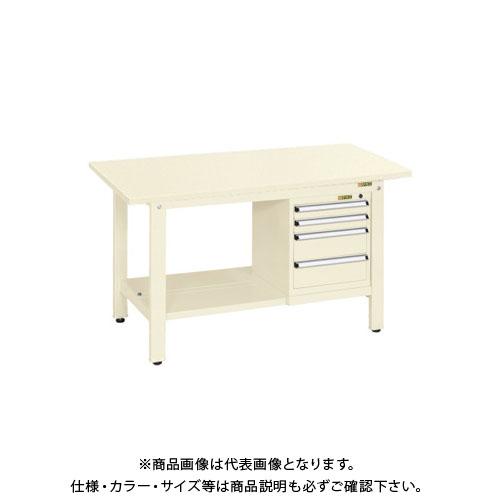 【直送品】サカエ 軽量作業台KKタイプ スモールキャビネット付 KK-49SSL4I