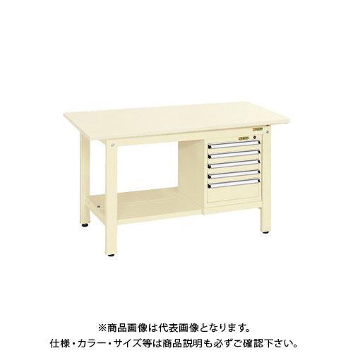 【直送品】サカエ 軽量作業台KKタイプ スモールキャビネット付 KK-59SSL5I