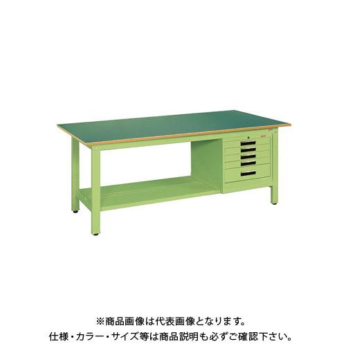 【直送品】サカエ 軽量作業台KKタイプ SVEキャビネット付 KK-49FSVE5