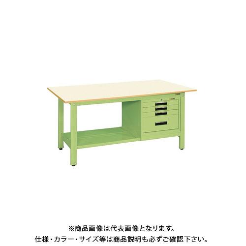 【直送品】サカエ 軽量作業台KKタイプ SVEキャビネット付 KK-69PSVE4IG