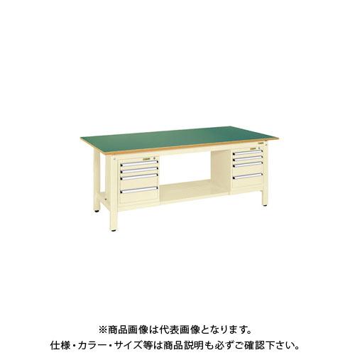 【直送品】サカエ 軽量作業台KKタイプ スモールキャビネット付 KK-69FSL42IG