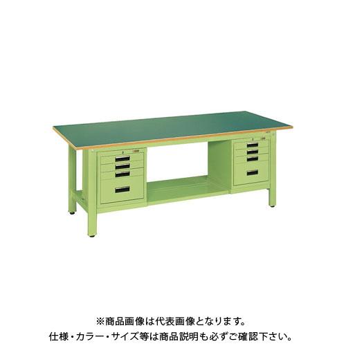 【直送品】サカエ 軽量作業台KKタイプ SVEキャビネット付 KK-69FSVE42