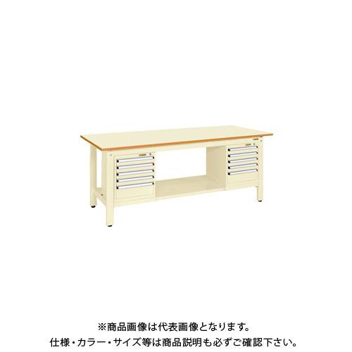【直送品】サカエ 軽量作業台KKタイプ スモールキャビネット付 KK-69PSL52I