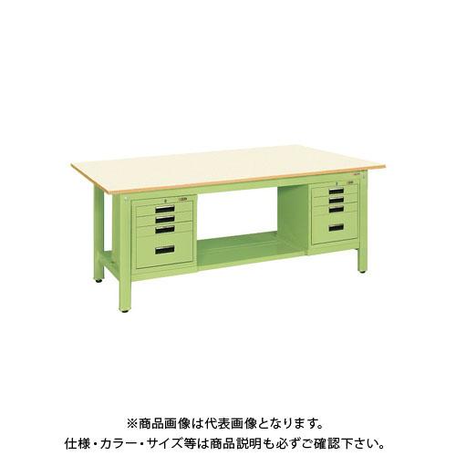 【直送品】サカエ 軽量作業台KKタイプ SVEキャビネット付 KK-69PSVE42IG