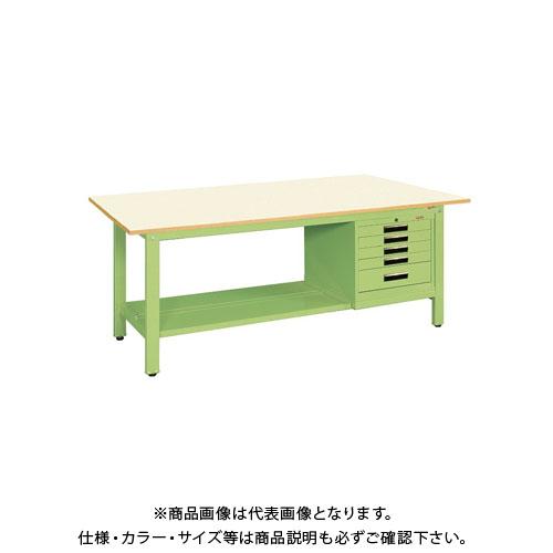 【直送品】サカエ 軽量作業台KKタイプ SVEキャビネット付 KK-59PSVE5IG