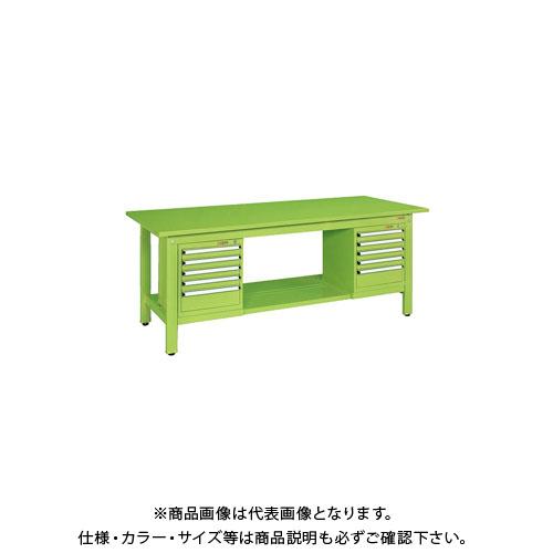 【直送品】サカエ 軽量作業台KKタイプ スモールキャビネット付 KK-69SSL52