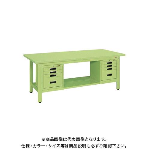 【直送品】サカエ 軽量作業台KKタイプ SVEキャビネット付 KK-69SSVE42