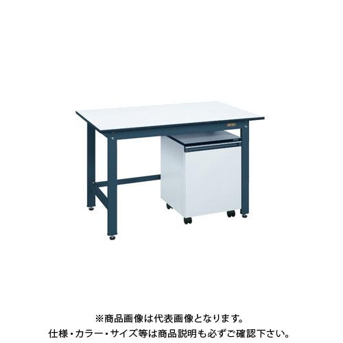 【直送品】サカエ 軽量作業台KKタイプ・キャビネットワゴン付 KKD-127LC