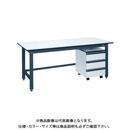 【直送品】サカエ 軽量作業台KKタイプ・キャビネットワゴン付 KKD-127LA