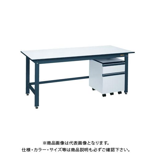 【直送品】サカエ 軽量作業台KKタイプ・キャビネットワゴン付 KKD-127LB