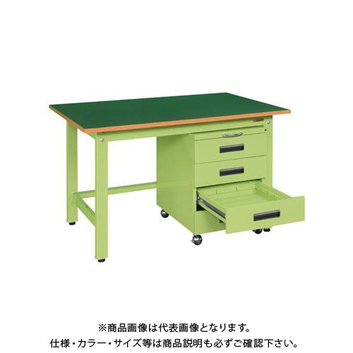 【直送品】サカエ 軽量作業台KKタイプ・キャビネットワゴン付 KKF-127D