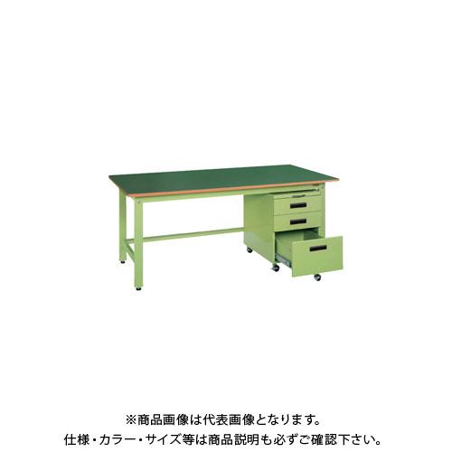 【直送品】サカエ 軽量作業台KKタイプ・キャビネットワゴン付 KKF-127E